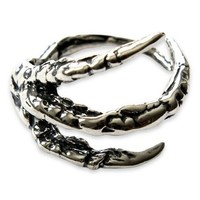 Sterling Silver Raven Claw Ring Bird Crow Corvid by Moon Raven Designs