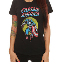 Marvel Universe Comic Captain America Girls T-Shirt | Hot Topic