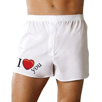 I Heart You Mens Valentines Day Sexy Boxer Short Underwear