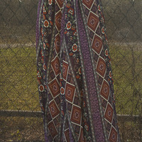 Boho With The Flow Maxi Skirt: Multi