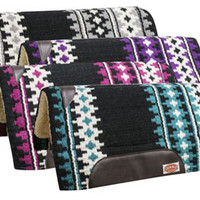 Saddles Tack Horse Supplies - ChickSaddlery.com Showman Wool Top Cutter Pad With Memory Felt Center And Fleece Bottom