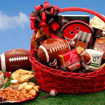 Football Fanatic Large Sports Gift Basket