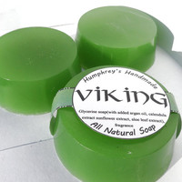 VIKING soap, Men's Shave & Shampoo Soap, Round Soap Puck, Mens Glycerin Soap, Drakkar Noir Type