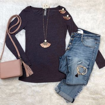 Back To Classic Plum Top