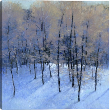 Winter Morning II Landscape Canvas Wall Art Print by Kim Coulter