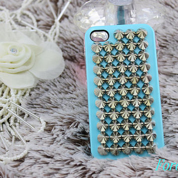 punk  iphone case, i phone 4 4s 5 case, cool cute iphone4 iphone4s 5 case,stylish plastic rubber cases cover, Artificial Swarovski Crystal