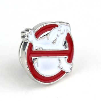 Music Band Ghostbusters Logo Brooches Lapel Pins for Clothes Women Man Shirts Brooch