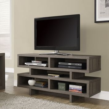 "Dark Taupe Reclaimed-Look Hollow-Core 48""L Tv Console"