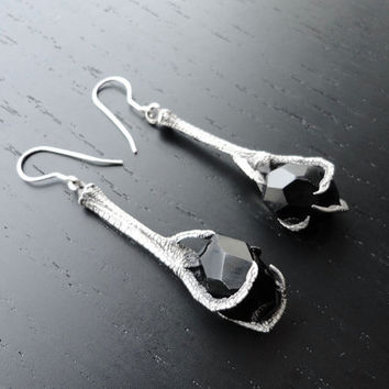 Griffes Noir Earrings by charlotteburkhart on Etsy