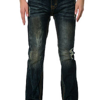 Springfield Classic Vintage Washed Denim Pants with Sand Blast & Vein Washing & Rip Off