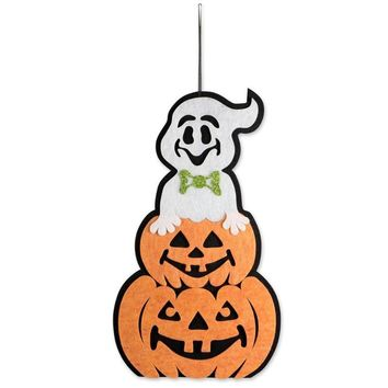Halloween Party Decoration Non-woven Horror Ghost Pumpkin Kids Trick Door Hanging Garland Party Holiday DIY Decorations