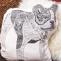 Rise And Fall Boston Terrier Pillow