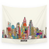Society6 Austin Texas Wall Tapestry