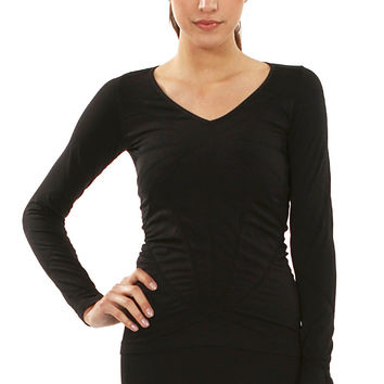 Segmented Long Sleeve Top