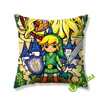 Legend of Zelda Triforce Square Pillow Cover