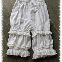 Branded Classic White Lolita Shorts Ruffled Lolita Bloomers by Infanta