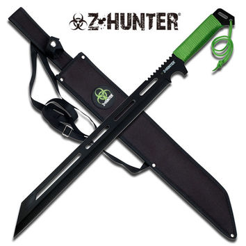 Z-Hunter 25 Inch Length Machete - Green Cord Wrapped Handle