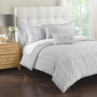 Lauren 5-Piece Comforter Set in Grey
