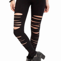 Front Slashed Leggings $21