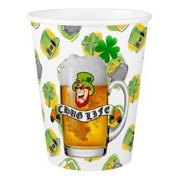 St. Patrick's Day Chug Life Paper Cup