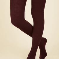 Homework Bound Tights in Cranberry | Mod Retro Vintage Tights | ModCloth.com