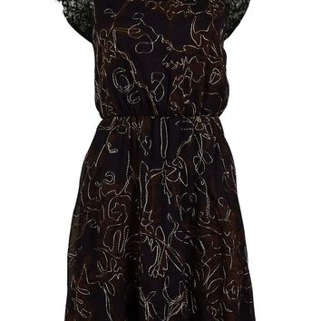 MADE for Impulse Women's Lace Cap Sleeve Polyester Dress