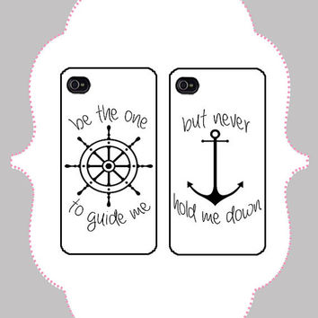iPhone  Case- Matching Nautical Case- iPhone 4 Case, iPhone 4s Case, iPhone 5 Case, Monogram Case, Personalized iPhone Case