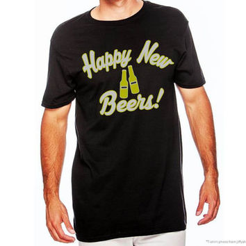 Happy New Beers, New Years Shirt, Adult Happy New Year Shirt, Ladies New Years Eve Shirt, Beer Shirt, Mens Beer Shirt, Beer, AppleCopter