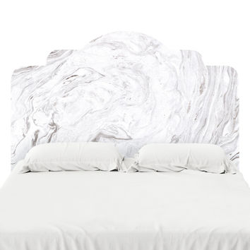 Pristine Marble Headboard Decal
