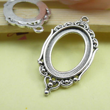 5pcs black cameo cab frame blank setting from fullloveaccessories 10pcs antique silver cameo cab frame blank setting charms pendants 24x42mm fit 18x25mm cabochon setting aloadofball Gallery