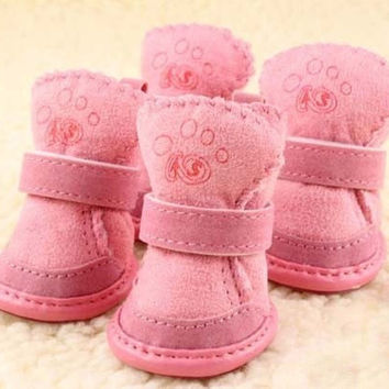New Fancy Dress up Pet Dog Chihuahua Boots Puppy Shoes For Small Dog Size S-XL 4pcs/lot = 1945966468