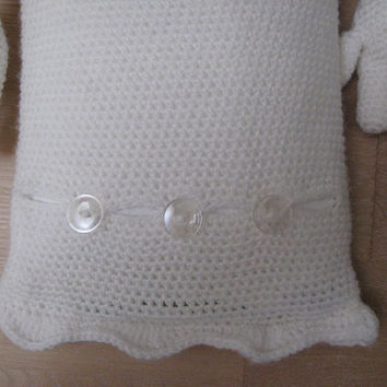 Crochet Pattern Ghost Hot Water Bottle Cover PDF Cozy Halloween