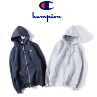 Trendy Champion Embroidered Unisex Cardigan Coat Zipper Pullover