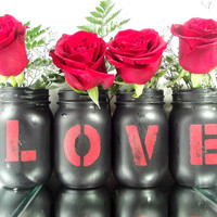 LOVE, Mason Jar Set