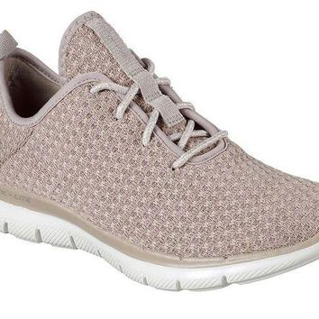 DCCKAB3 Skechers Taupe Flex Appeal 2.0 - Bold Move Shoes