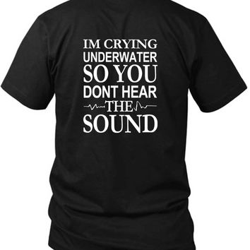 Pierce The Veil Quote Im Crying Underwater 2 Sided Black Mens T Shirt