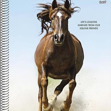 """Horse Engagement Calendar & Planner - 2019- 8.5 x 7"""" - Spiral - 49 pages -  What Horses Teach Us"""