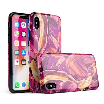 Blurred Abstract Flow V15 - iPhone X Swappable Hybrid Case
