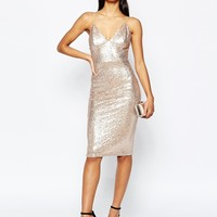 Club L Sequin Cami Dress at asos.com