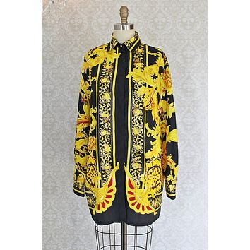 Vintage Pucci-Esque  Statement Tunic Blouse
