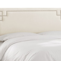 Aiden Nail-Trim Headboard, Cream, Headboards