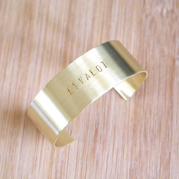 Personalized Thick Cuff Bracelet