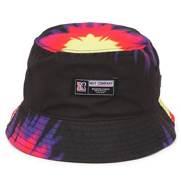 Neff Tie Dye Bucket Hat - Mens Backpack - Black - One