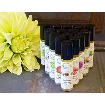All-Natural Essential Oil Roll-On Perfumes (16 Varieties)