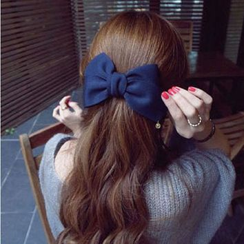 DCCKU62 2017 Korean Style Hair Ornaments Flower Hair Clip Fashion Cute Hairpins Gig Bow Hairclips For Women Hair Accessories Haarband