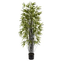 SheilaShrubs.com: 5' Black Bamboo Tree 5418 by Nearly Natural : Indoor Garden Decor Silk Trees & Plants