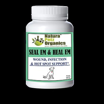 SEAL EM & HEAL EM CAPSULES Dog Cat & Small Animal*  Wound, Infection & Hot Spot Support*