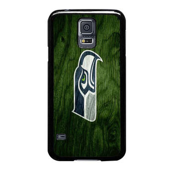 seattle seahawks on wood samsung galaxy s5 cases