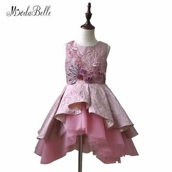 modabelle Puffy Flower Girl Dresses For First Communion Short Princess Kids Birthday Prom Dress For Girls Pageant Gown 2018