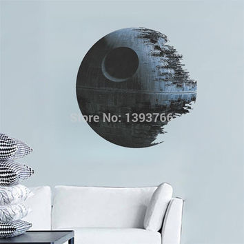 DEATH STAR ARTWORK Star Wars Wall Decal Removable 3d WALL STICKER Home Decor Art Clone